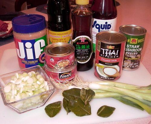 Thai Pork Curry #4 (Ingredients)