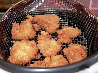 Chicken Things Outdoor Setup #9 (Out of Deep-Fryer)
