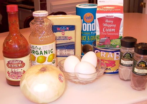 Creamy Crabmeat Quiche (Ingredients) #1