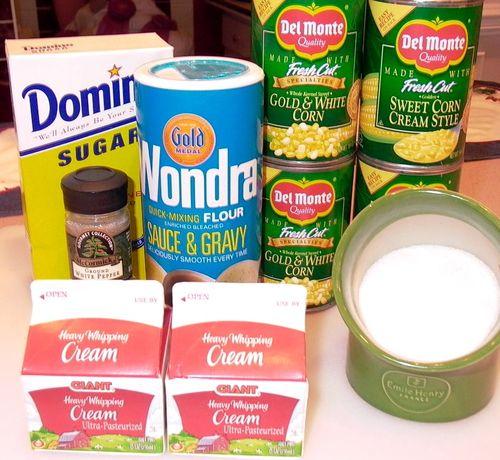 Baked Corn #1 (Ingredients)
