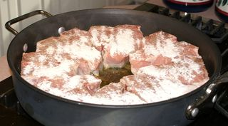 Braised Veal Chops #3 (In Pan & Second Side Seasoned)
