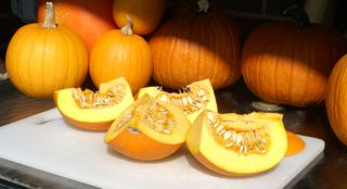 Roasted Pumpkin Puree #2 (Quartered Pumpkins)