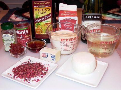 Pink Peppercorn Sauce #2 (Ingredients)