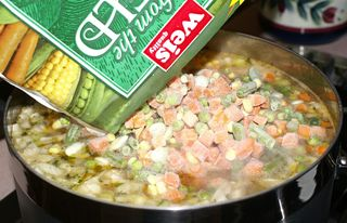 Ann's Chicken Vegetable Soup #10 (Adding Frozen Vegetables)