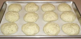 Crusty Caraway Seed Sandwich Rolls #12 (On Pan to Rise)