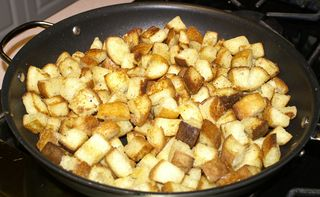 Croutons & Toasts #8 (Finished Croutons in Pan)