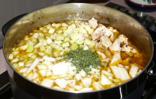 Ann's Chicken Vegetable Soup #8 (Adding Celery & Onions)