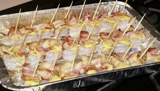 Shrimp Wrapped in Bacon #12 (Shrimp Ready for Oven)