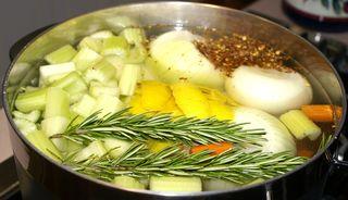 Vegetable Stock #3 (Water in Pot)