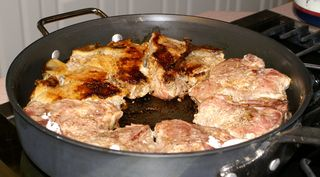 Braised Veal Chops #4 (Turning Chops Oven in Progress)