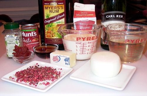 Pink Peppercorn Sauce #1 (Ingredients)