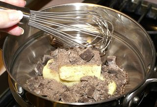 Mexican Chocolate Brownies #8 (Chopped Chocolate in Double Boiler)