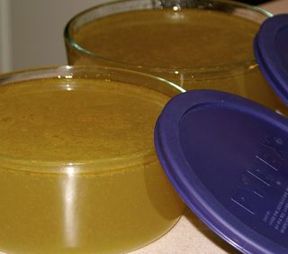 Vegetable Stock #8 (In Pyrex Containers Closeup)