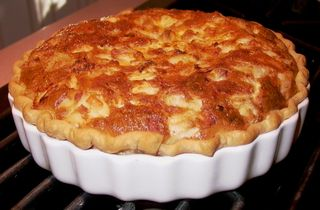 Creamy Crabmeat Quiche (Just Out of Oven) #1