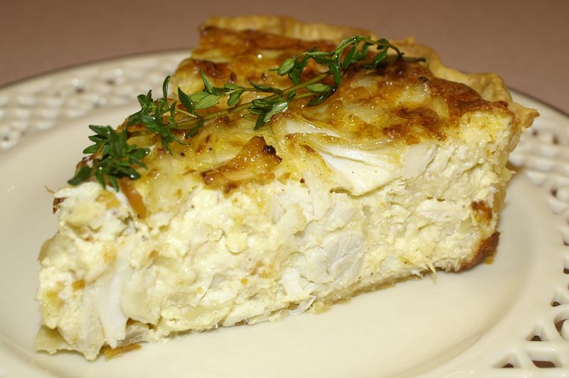 Creamy Crabmeat Quiche or Crabmeat Croissant ~ - Kitchen Encounters