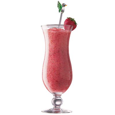 Strawberry colada cocktail  Pina Colada + Strawberry Daiquiri = Lava Flow ~ - Kitchen Encounters