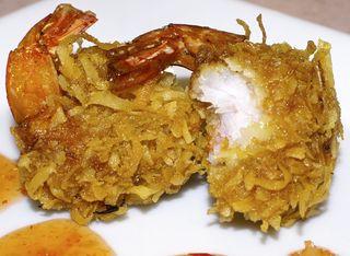 Thai-Style Coconut Shrimp #1-c (Closeup)
