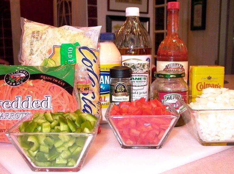 Creamy Crunchy Cole Slaw (Ingredients) #1