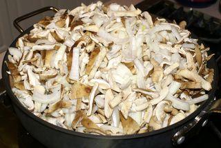 Shiitake Mushroom Soup #6 (Add the Mushrooms and Shallots or Onions)