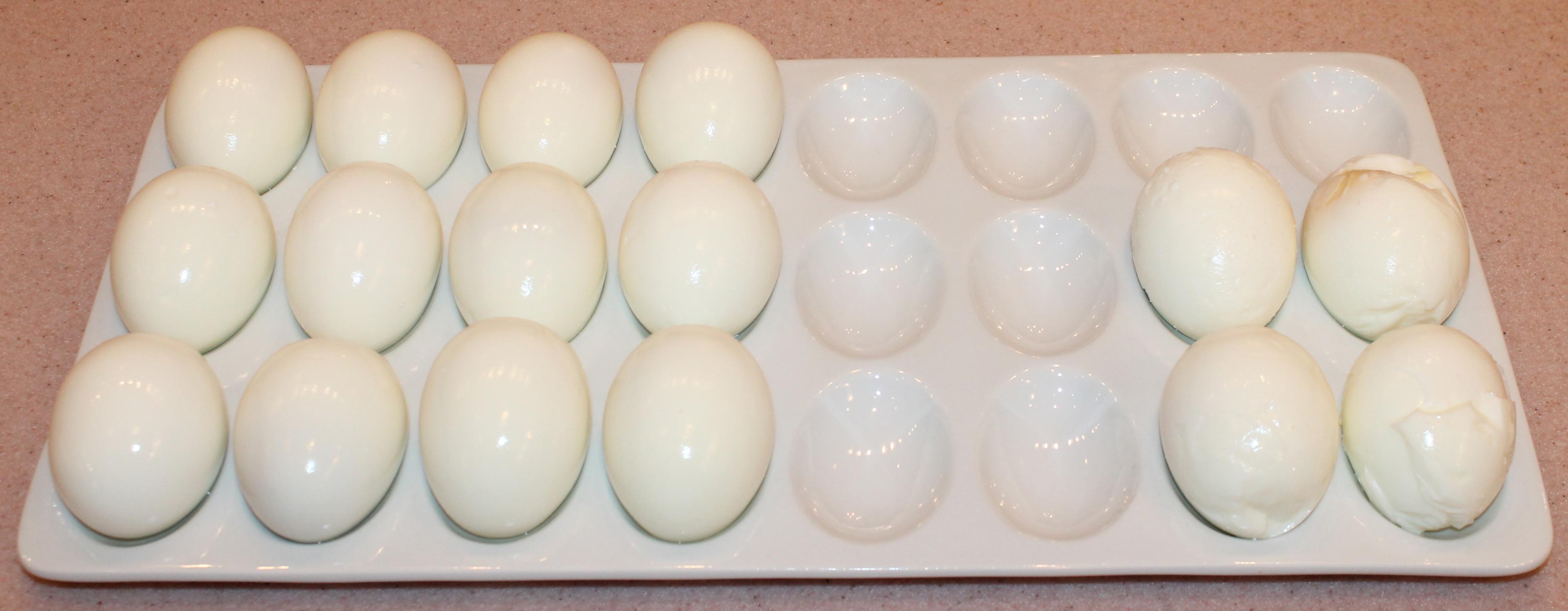 My Devilishly Hot-Russian-Mustard Deviled Eggs ~ - Kitchen Encounters