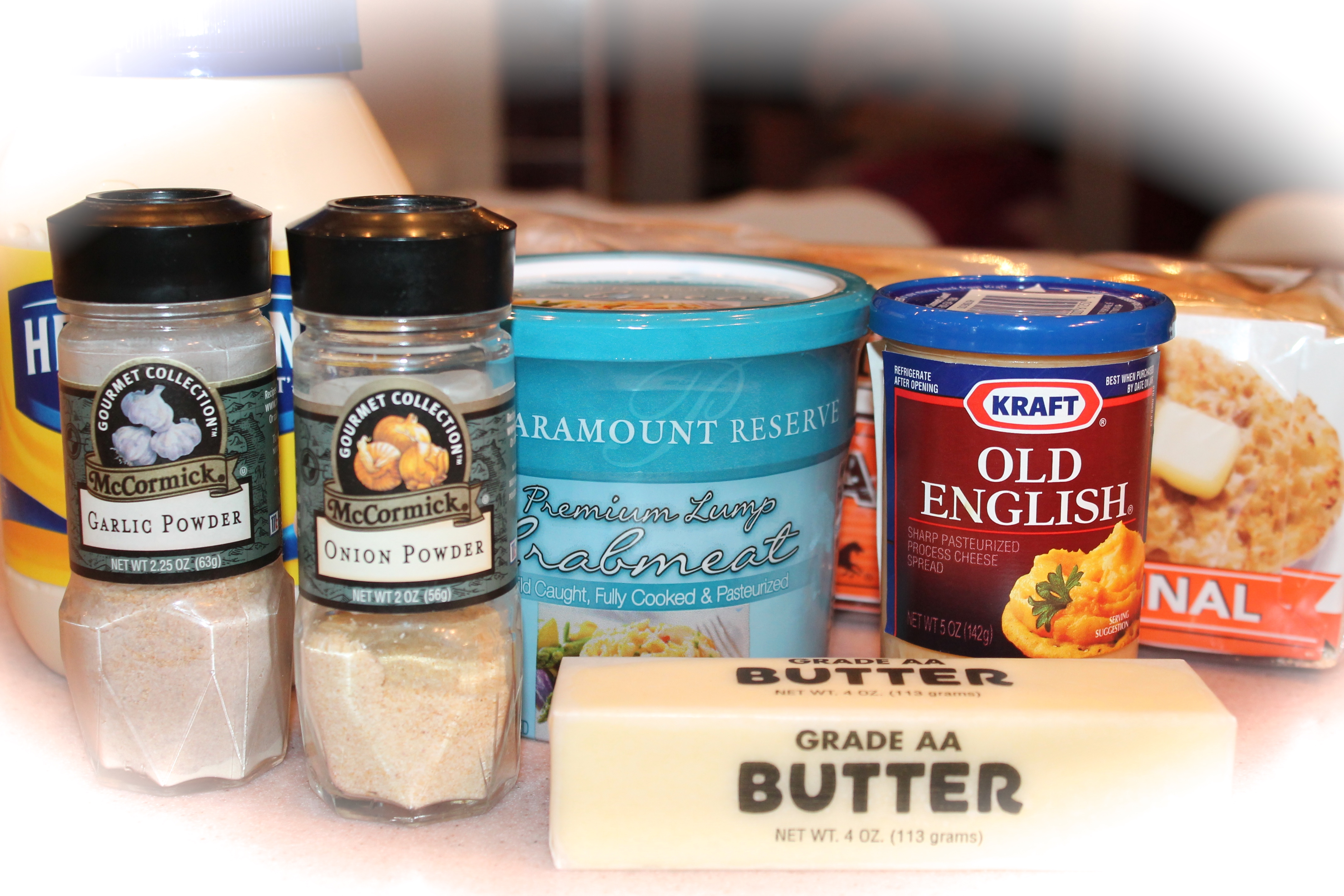 Old English Cheese Spread & Crabmeat Canapés ~ - Kitchen Encounters