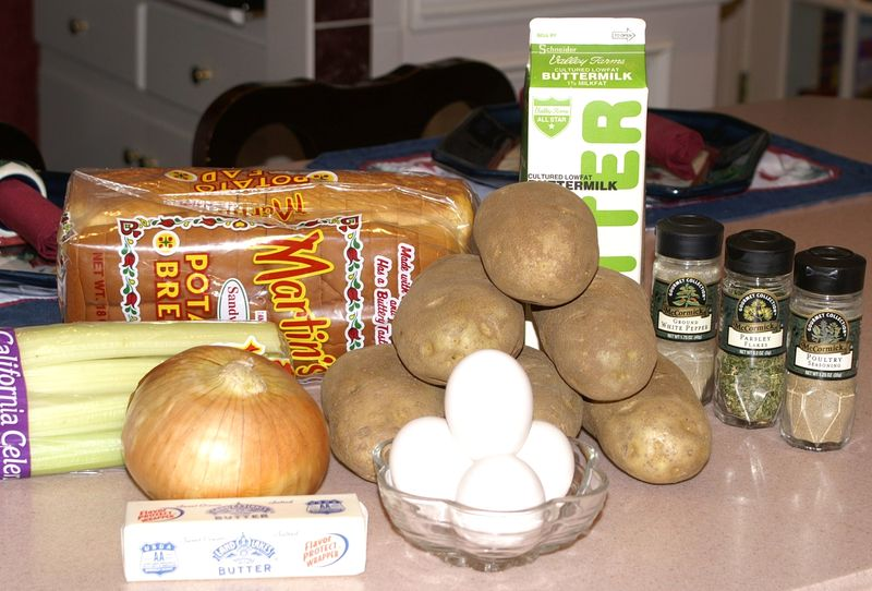 Tettie's Potato Stuffing #4 (Unprepped Ingredients)