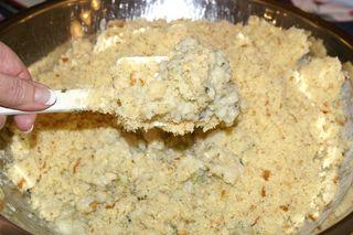 Tettie's Potato Stuffing #13 (Fold Breadcrumbs into Mixture)
