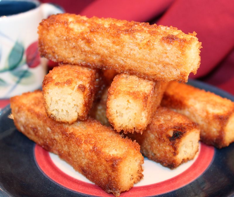 ~ Sugar 'n Cinnamon Toasted-Pound-Cake Sticks ~ - Kitchen ...
