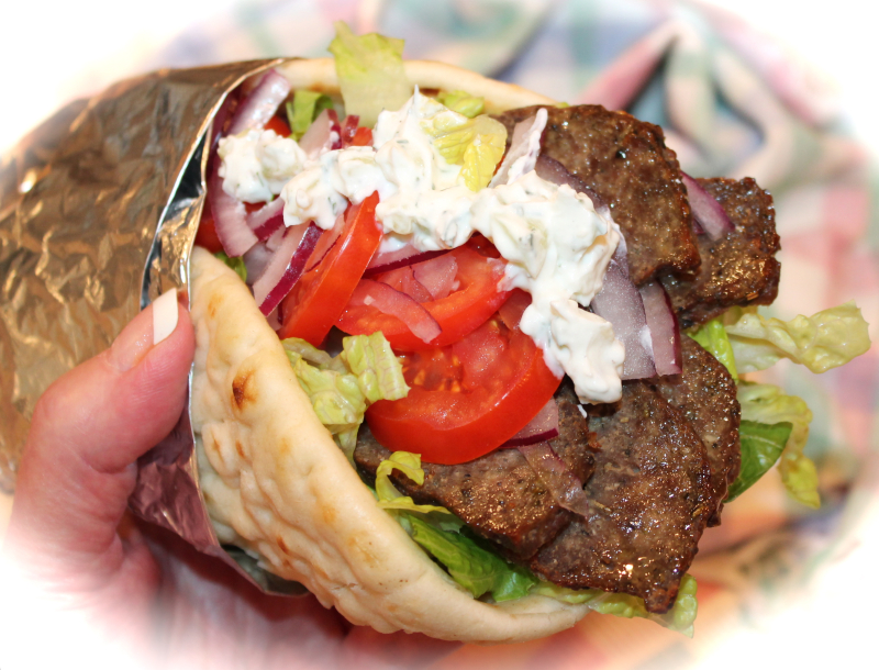 ~ My Greek Gyro-Style Beef & Lamb 'Burger' Pitas ...