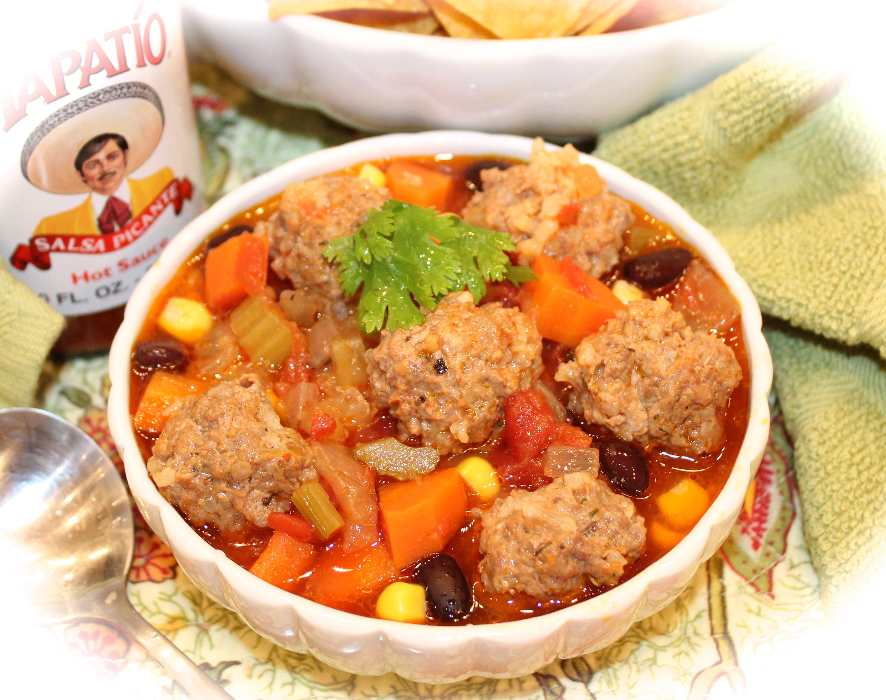Sopa De Albondigas Mexican Style Meatball Soup Kitchen Encounters